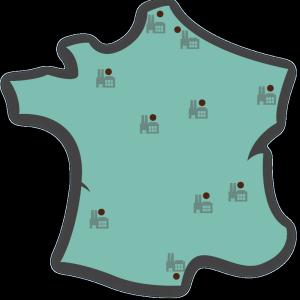 carte-usines-france